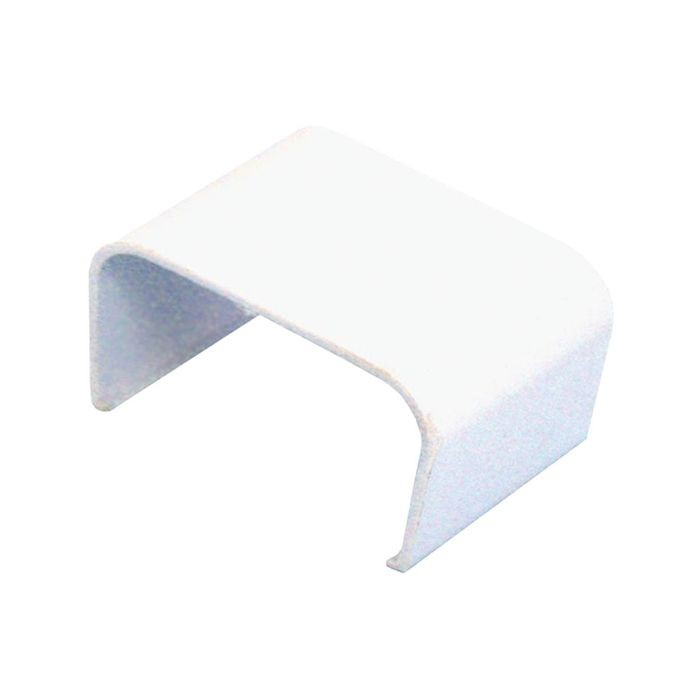 "1-1/2"" Long White Plastic Wire Hider Coupler"