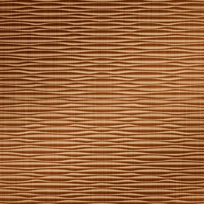 10' Wide x 4' Long Mojave Pattern Brushed Copper Finish Thermoplastic Flexlam Wall Panel