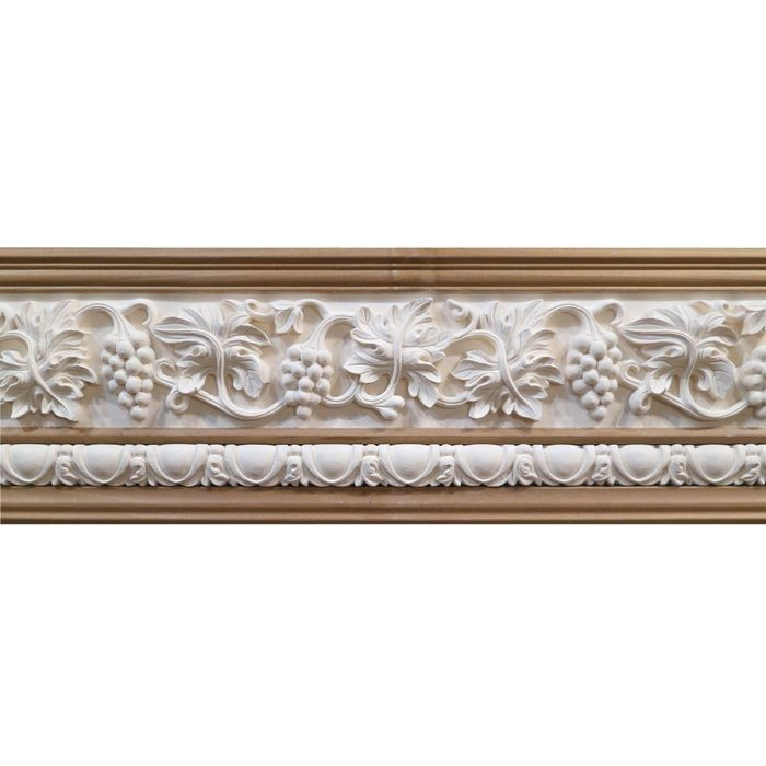 10in H x 1-1/2in Proj | Unfinished Polymer Resin | 480-E Series with Bottom Style 1 | Frieze Moulding | 10ft Long