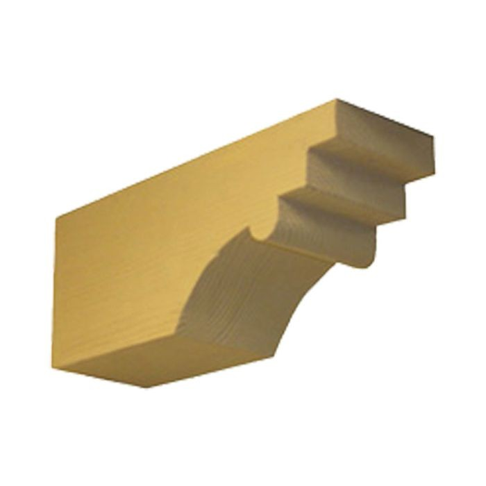 "5-1/4"" Wide x 9-1/4"" High Finished Polyurethane Rough Sawn Corbel"