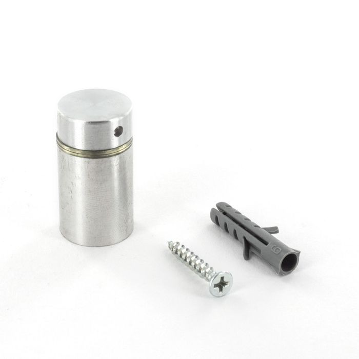 "3/4"" Diameter x 1"" Barrel Length Satin Stainless Steel Finish Premium Aluminum Series Secure Fasten Standoff"