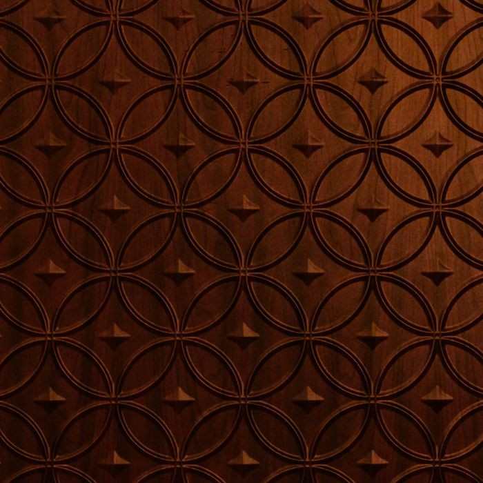 10' Wide x 4' Long Celestial Pattern Welsh Cherry Finish Thermoplastic Flexlam Wall Panel