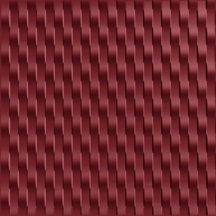 10' Wide x 4' Long Weave Pattern Merlot Vertical Finish Thermoplastic Flexlam Wall Panel