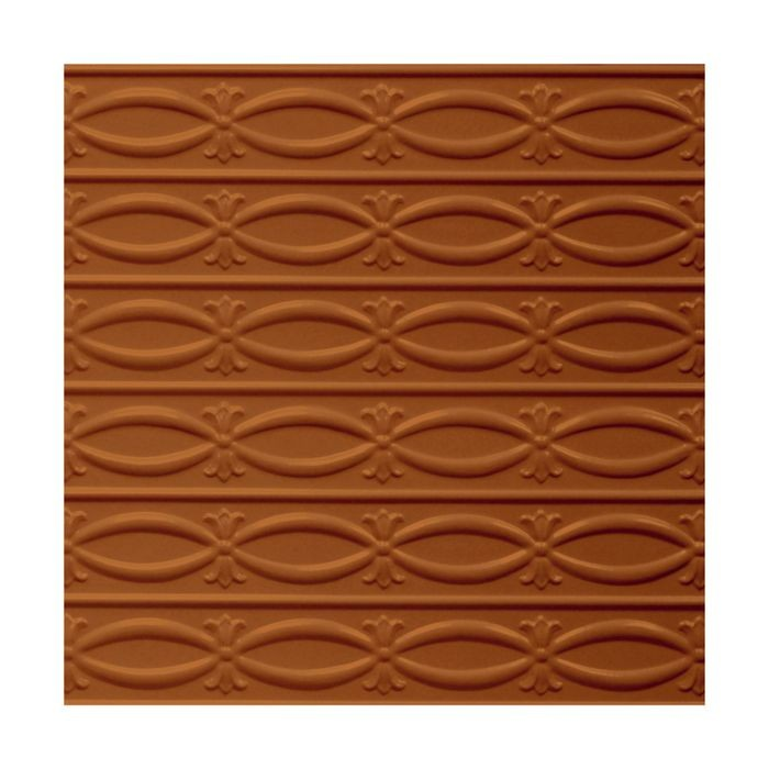 Tin Plated Stamped Steel Ceiling Tile | Lay In | 2ft Sq | Saddle Finish