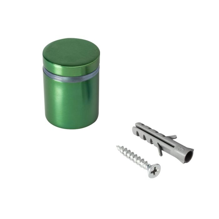 "1"" Diameter x 1"" Barrel Length Green Aluminum Eco Series Easy Fasten Standoff"