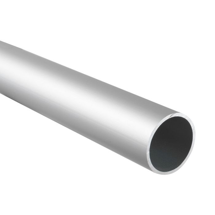 1-1/2in Aluminum Tubing for Panels and Partitions | Clear Anodized Aluminum Finish | 8ft Length