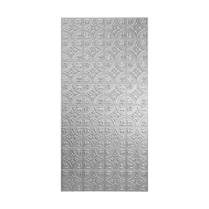 10' Wide x 4' Long Boston Pattern Winter White Finish Thermoplastic Flexlam Wall Panel