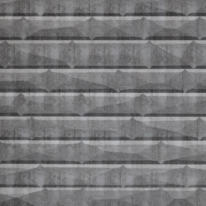 10' Wide x 4' Long Vista Pattern Crosshatch Silver Finish Thermoplastic FlexLam Wall Panel