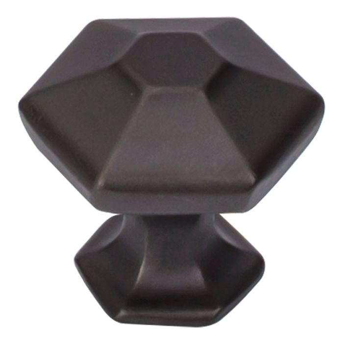 "Spectrum Knob 1 1/8"" Hexagon Sable"