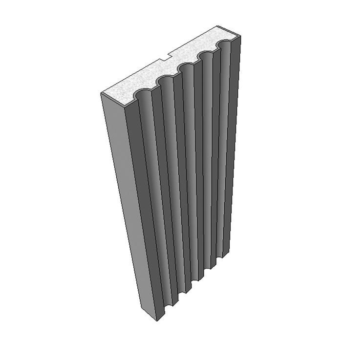"10"" High x 2"" Deep Traditional Series Acrocore EPS Pilaster Profile 8' Length"