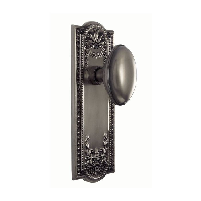 Polished Brass Meadows Backplate With Privacy Homestead Knob