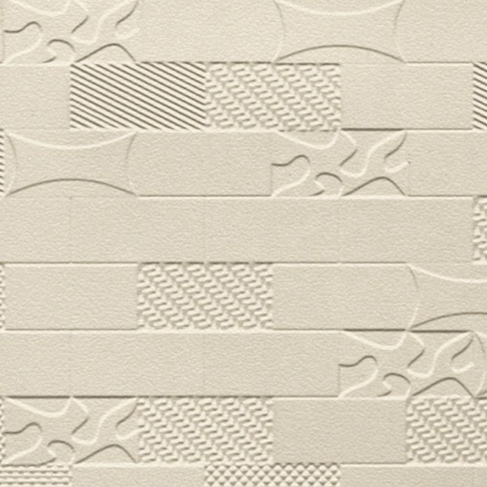 10' Wide x 4' Long Versa-Tile Pattern Almond Finish Thermoplastic FlexLam Wall Panel
