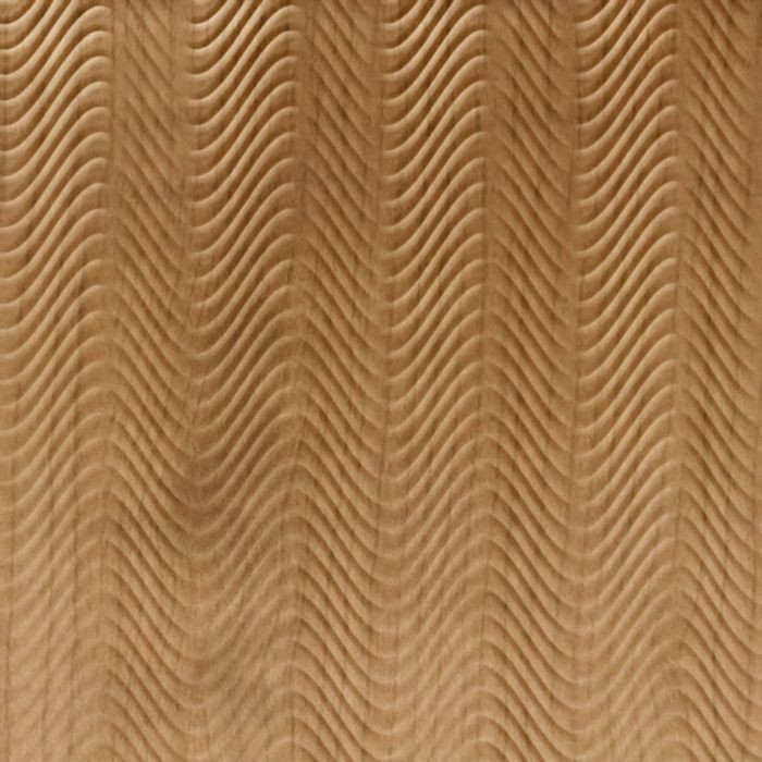 10' Wide x 4' Long Curves Pattern Oregon Ash Finish Thermoplastic Flexlam Wall Panel