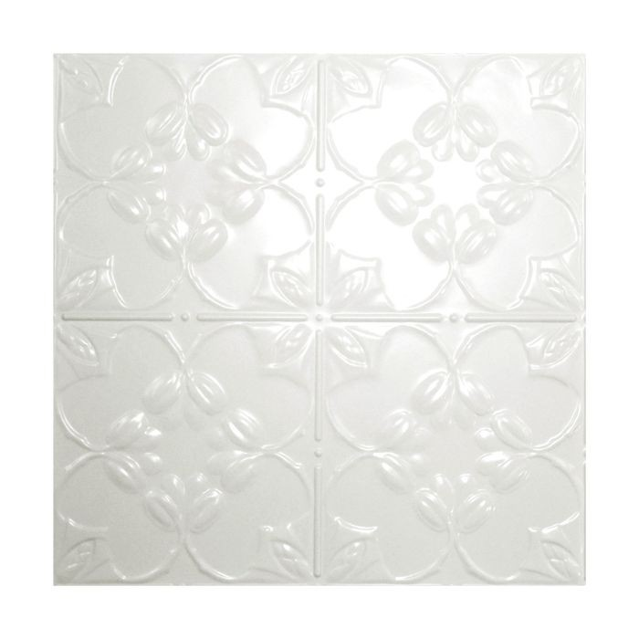 Tin Plated Stamped Steel Ceiling Tile | Nail Up/Glue Up Ceiling Tile | 2ft Sq | Egg Shell Finish