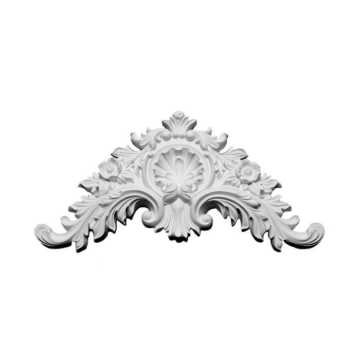 "10-1/2"" Wide x 5-1/4"" High Primed White Polyurethane Onlay Applique"