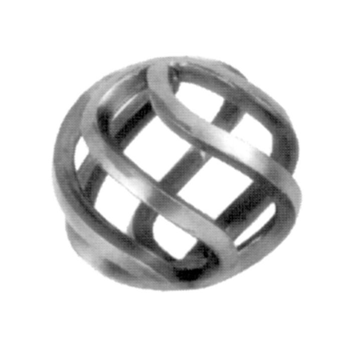 "1/4"" Square x 2-3/4"" W x With 6 Filaments Wrought Iron Baskets"