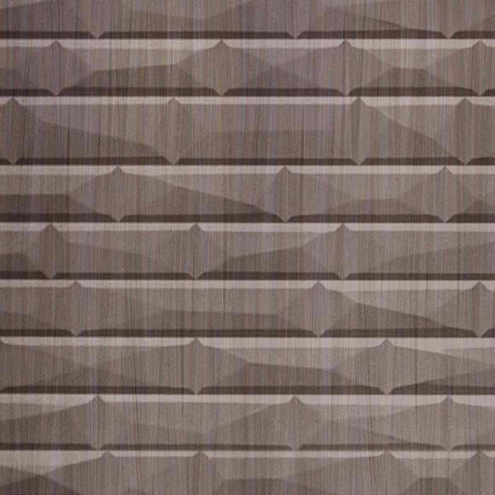 10' Wide x 4' Long Vista Pattern Bronze Strata Finish Thermoplastic FlexLam Wall Panel