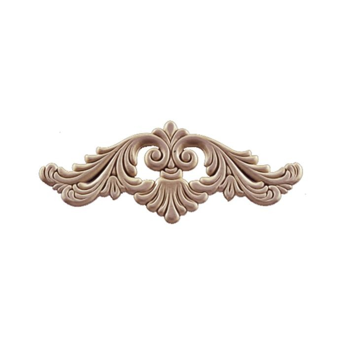 10-1/8in W x  4-1/4in H | Unfinished Maple Embossed Wood Veneer | Medium Applique