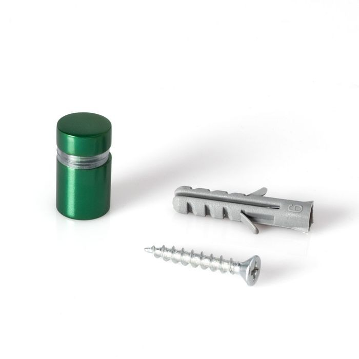 "1/2"" Diameter x 1/2"" Barrel Length Green Aluminum Eco Series Easy Fasten Standoff"