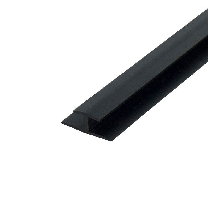 "1/4"" Black ABS Divider Moulding 8' Length"