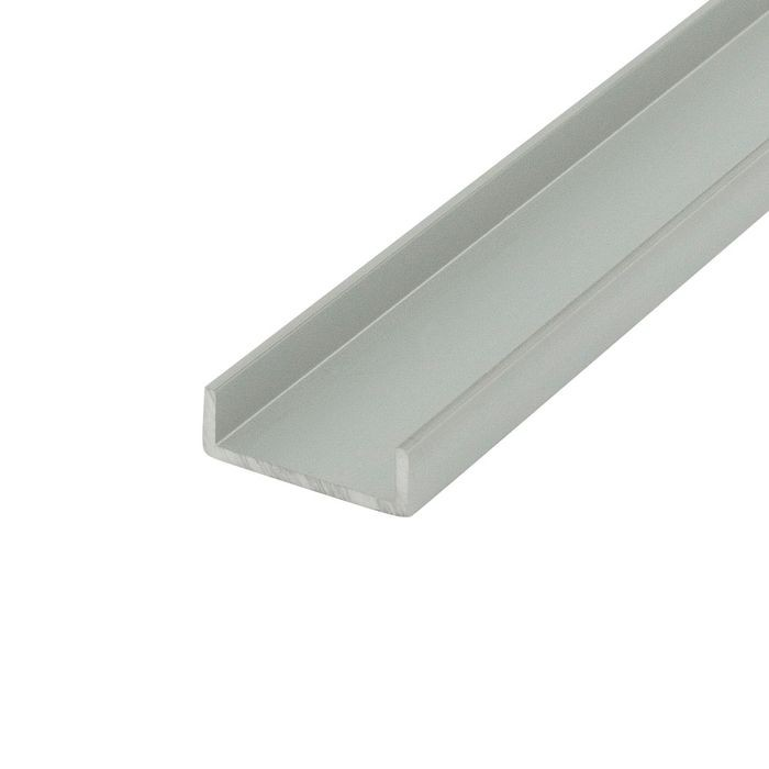 13/16in | Clear Anodized (Satin) Finish | Aluminum U Channel Moulding | 12ft Length