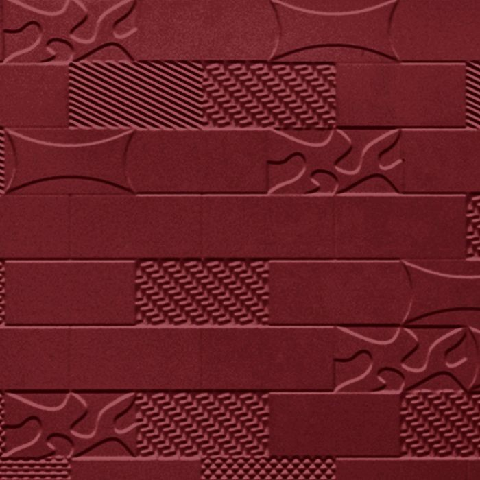 10' Wide x 4' Long Versa-Tile Pattern Merlot Finish Thermoplastic FlexLam Wall Panel