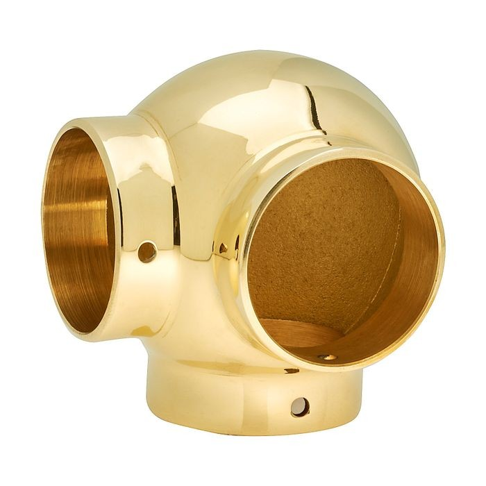 1-1/2in Dia x 2-13/16in H | Polished Brass Finish | Ball Fitting