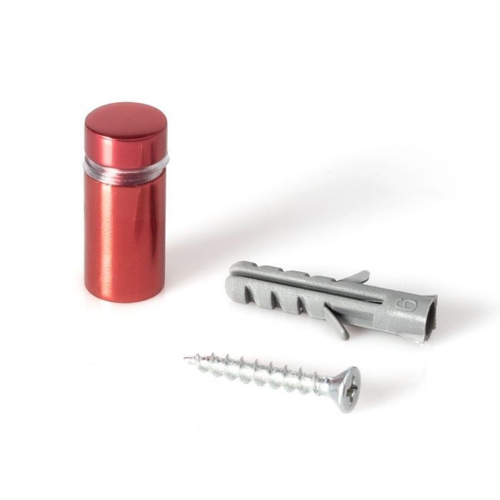 1/2in Dia x 3/4in Barrel Length | Cherry Red Aluminum | Eco Series Easy Fasten Standoff