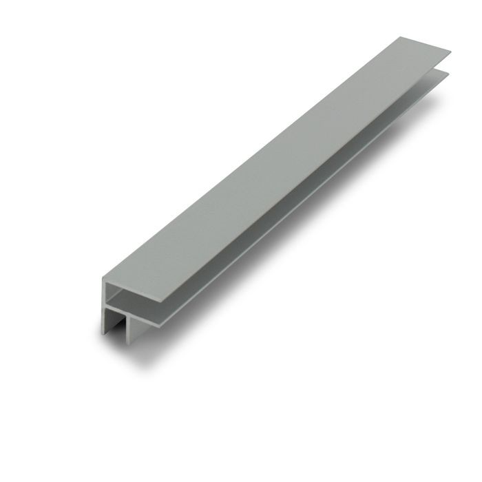 1/4in Clear Anodized (Satin) Finish Aluminum | 90 Degree 2 Way Corner Channel | 12ft Length