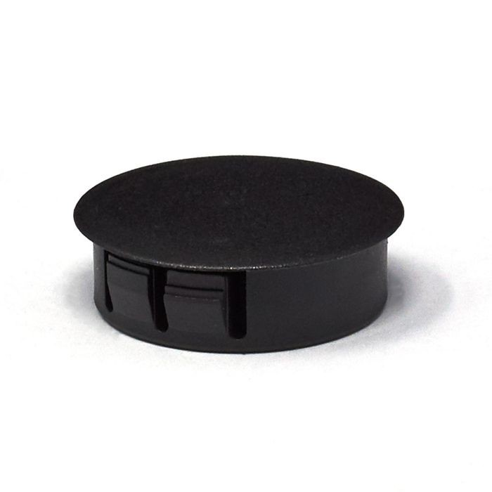 "1-1/4"" Black Nylon Locking Hole Plug"