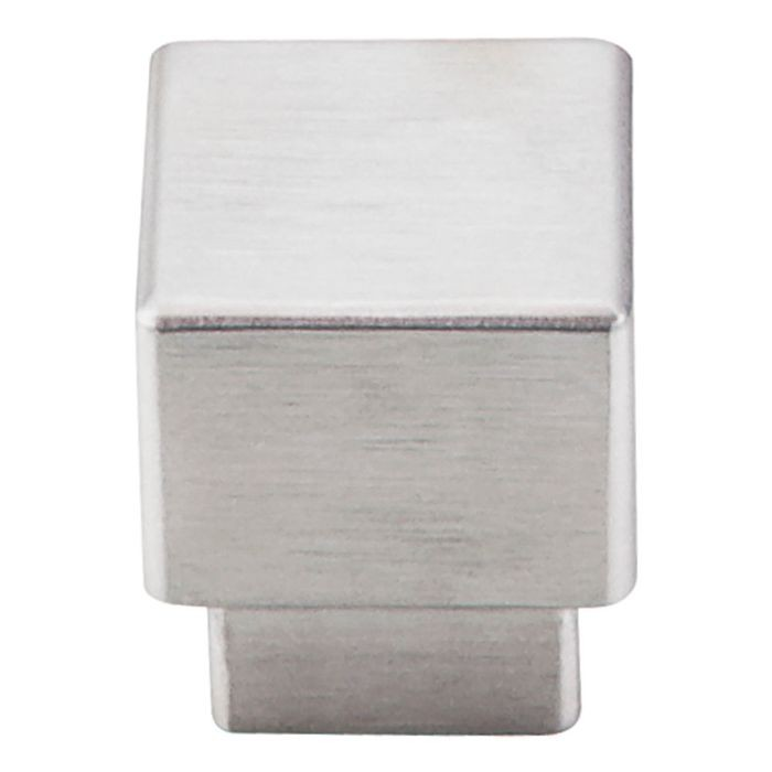 "Tapered Square Knob 1"" Dia. Brushed Stainless Steel"