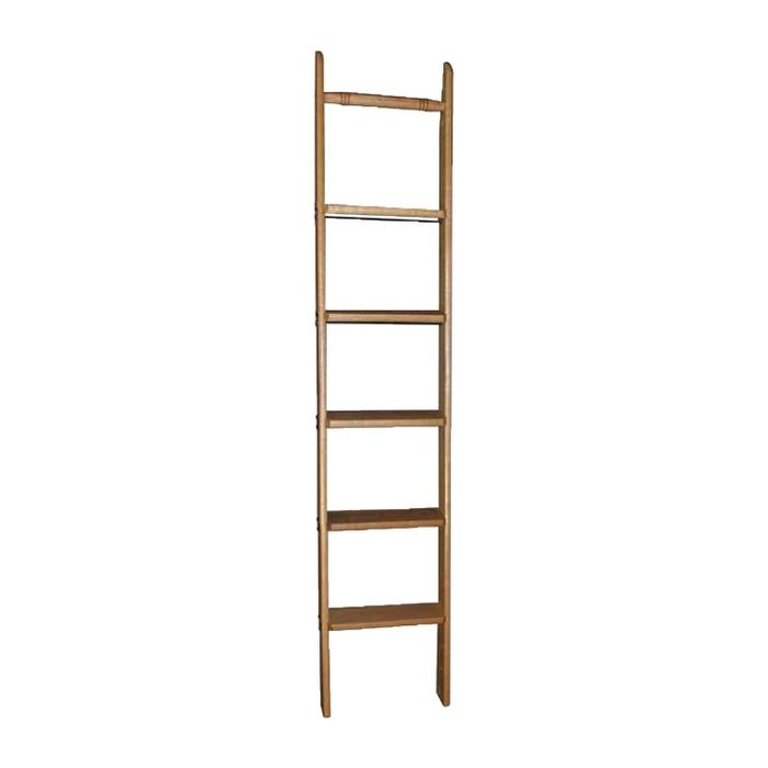 "10' High x 20"" Wide Unfinished Red Oak Staingrade Wood Unassembled Library Ladder"