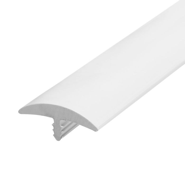 1-1/4in White Flexible PVC | Round Bumper Tee Moulding | 250ft Coil