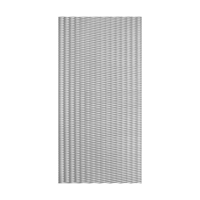 10' Wide x 4' Long Interlink Pattern Crosshatch Silver Finish Thermoplastic Flexlam Wall Panel