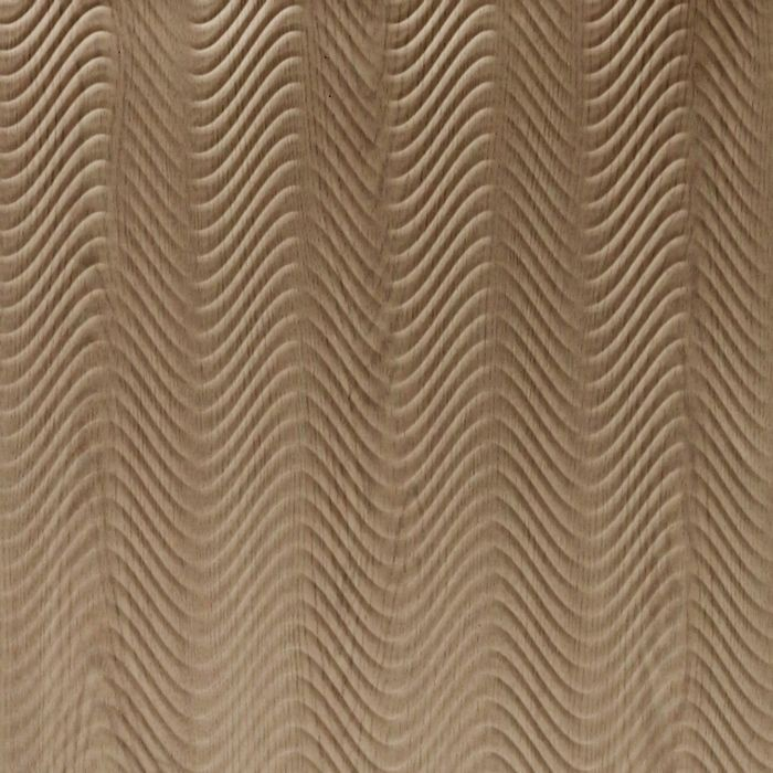 10' Wide x 4' Long Curves Pattern Washed Oak Finish Thermoplastic Flexlam Wall Panel
