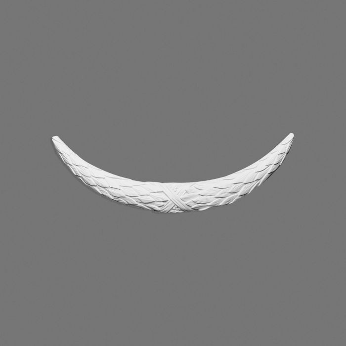 Orac Decor | High Density Polyurathane | 3D Decorative Element | Large Swag Wall Element | Primed White | 3-3/4in H x 28-15/16in W
