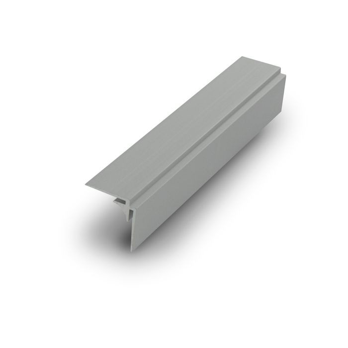 1/16in Clear Anodized (Satin) Finish Aluminum | 90 Degree Inside Corner Channel | 12ft Length