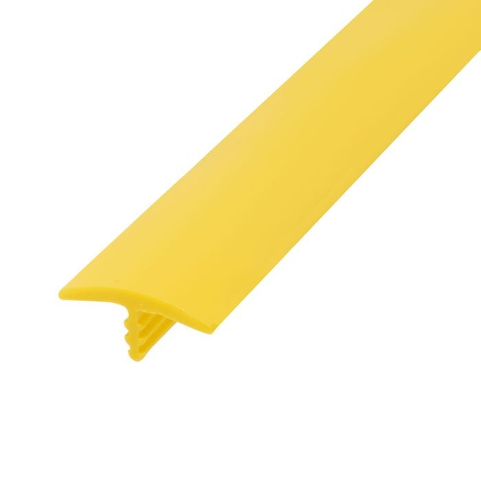 13/16in 895 Yellow Flexible Polyethylene | Center Barb Tee Moulding | 250ft Coil