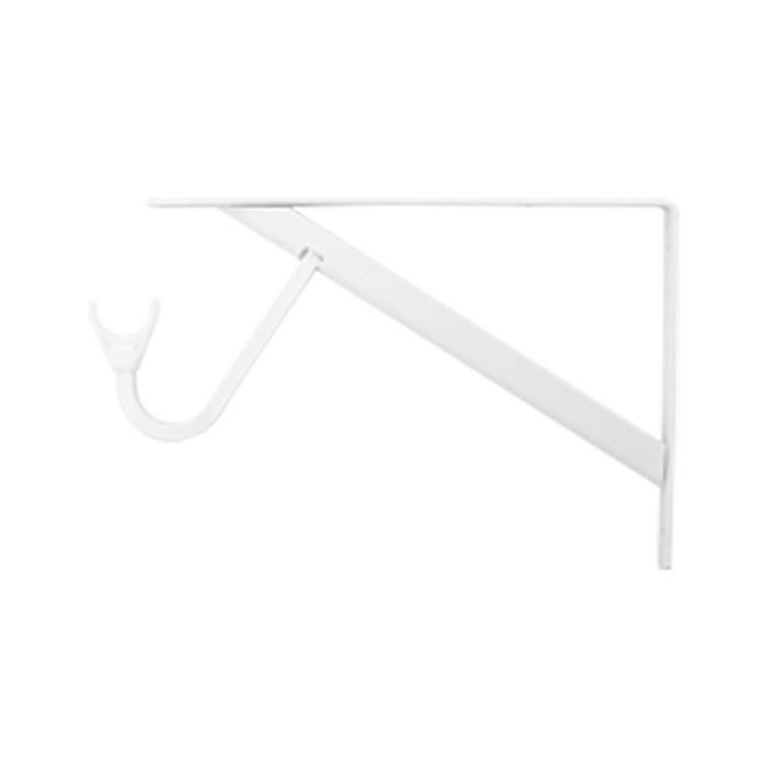 White Maximum Duty Shelf/Hang Rod Bracket