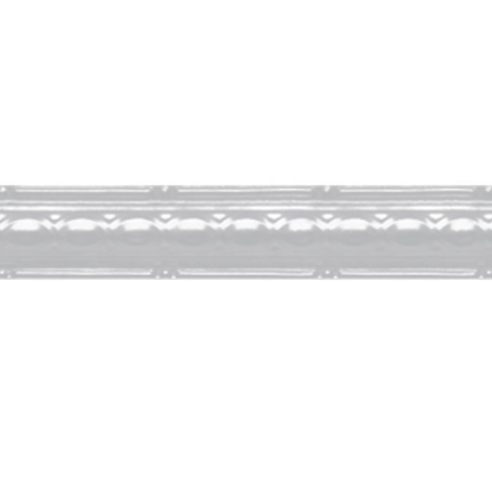 Tin Plated Stamped Steel Cornice | 2-1/2in H x 3-1/2in W x 2-1/2in Proj | White Finish | 4ft Long