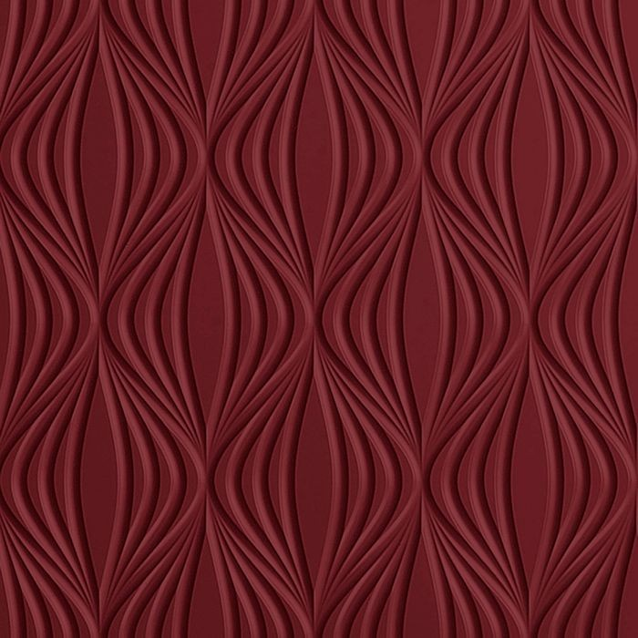 10' Wide x 4' Long Shallot Pattern Merlot Finish Thermoplastic Flexlam Wall Panel