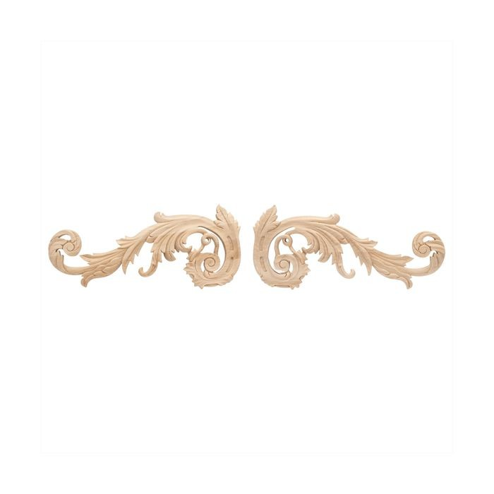 12in W x 5-1/4in H | Solid Maple Royal Wood Collection Scroll | RWC204 Series