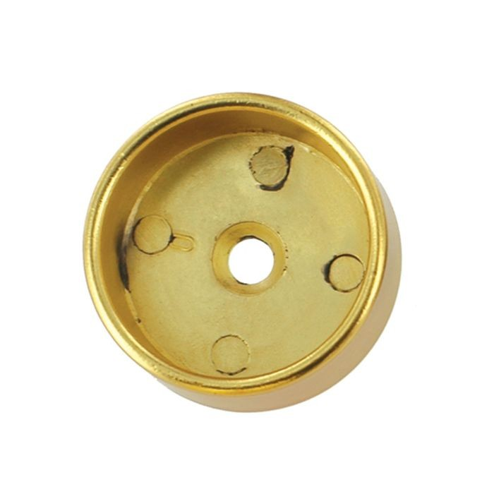 "Satin Brass O-Flange with 5mm Pins for 1-5/16"" Round Rod"
