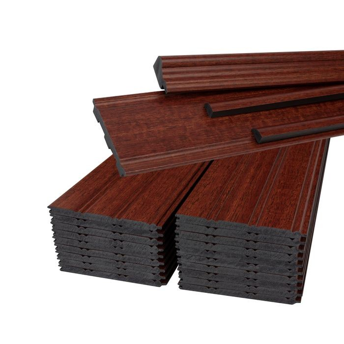"Wainscot Kit Cherry/Mahogany to cover 36-7/8"" High x 8' Long Area"