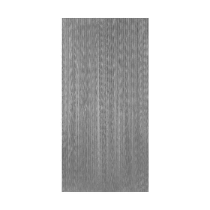 10' Wide x 4' Long Mojave Pattern Brushed Stainless Vertical Finish Thermoplastic Flexlam Wall Panel