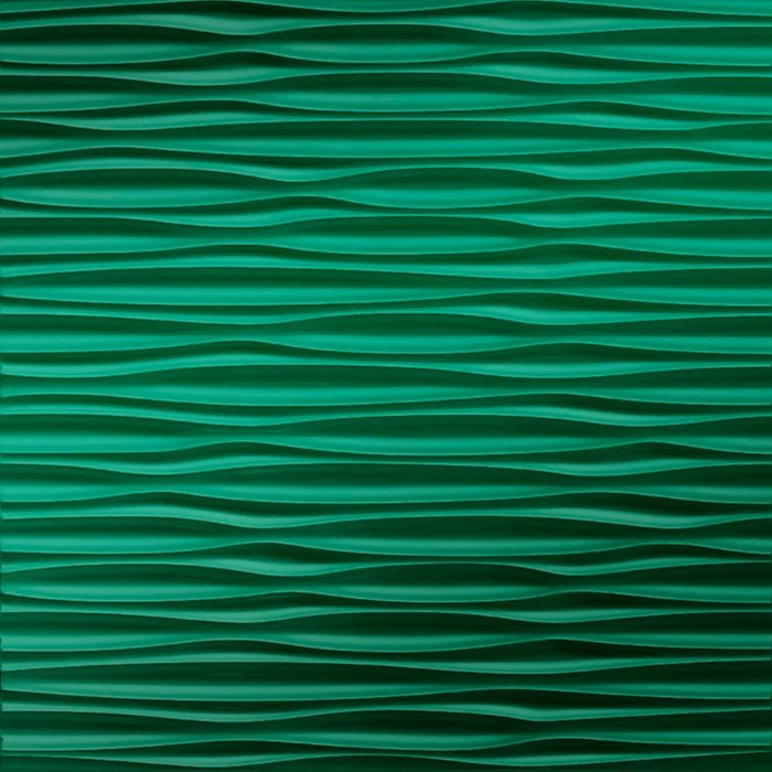 10' Wide x 4' Long Sahara Pattern Mirror Green Finish Thermoplastic Flexlam Wall Panel