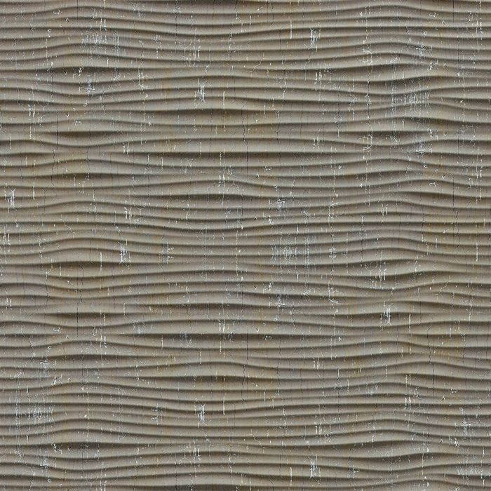 10' Wide x 4' Long Gobi Pattern Vintage Metal Finish Thermoplastic Flexlam Wall Panel