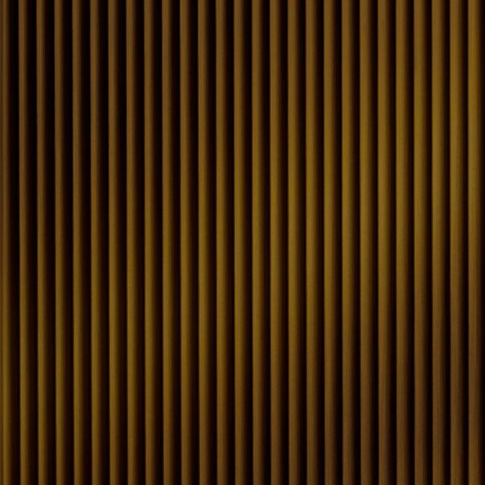 10' Wide x 4' Long Rib2 Pattern Oil Rubbed Bronze Finish Thermoplastic Flexlam Wall Panel