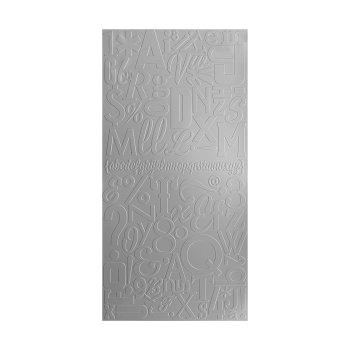 10' Wide x 4' Long Alphabet Soup Pattern Vintage Metal Finish Thermoplastic Flexlam Wall Panel