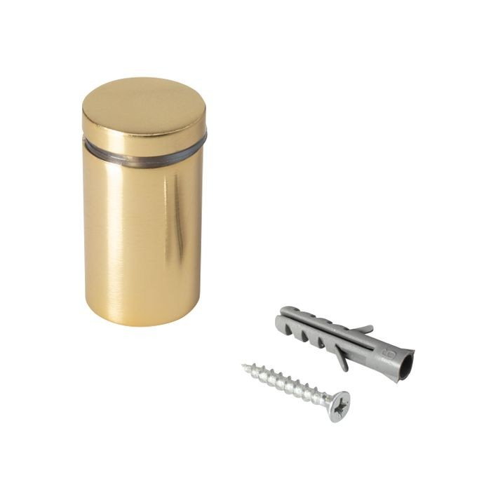 "1"" Diameter x 1-1/2"" Barrel Length Gold Aluminum Eco Series Easy Fasten Standoff"